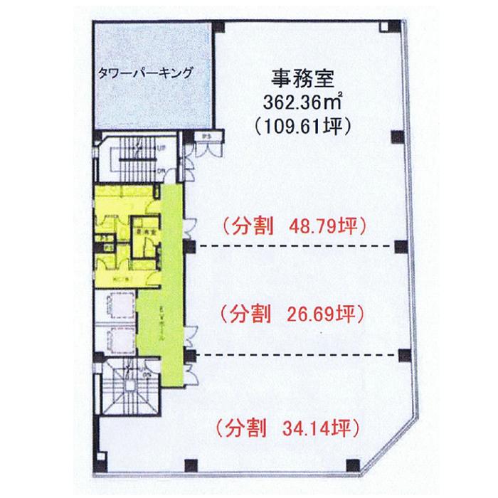 錦1 エターナル北山ビル 平面図