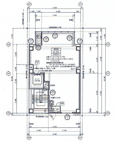 栄3 TOSHIN SAKURAビル 平面図