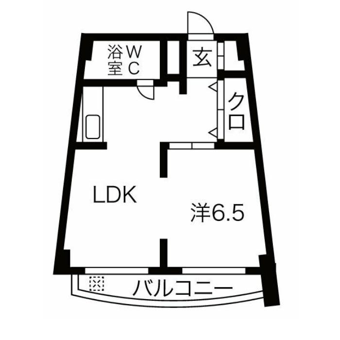 大須4 チサンマンション上前津 平面図