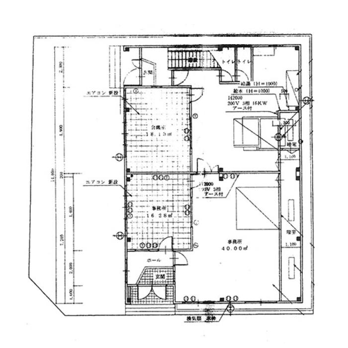 砂原町 砂原町1棟貸事務所 1階平面図