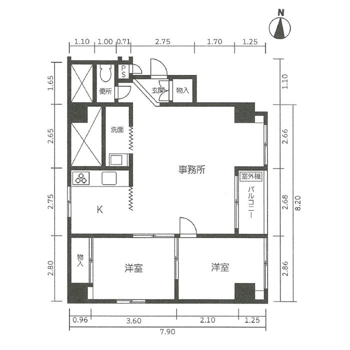 栄1 フシミファーストビル 平面図