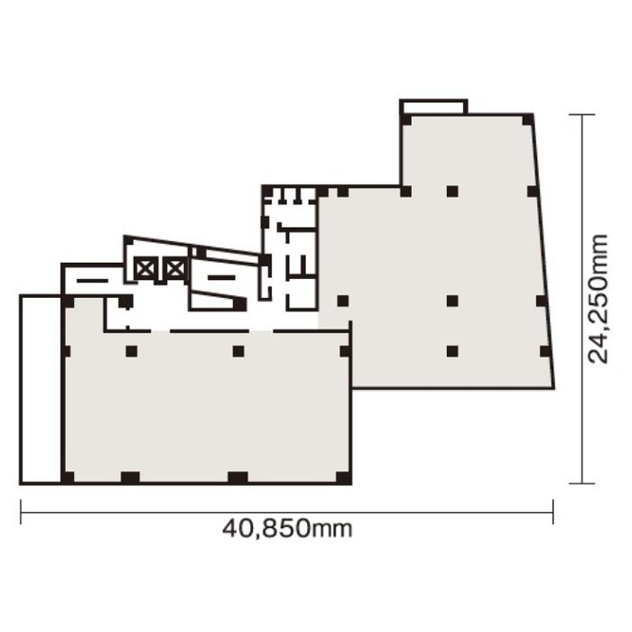 名駅南1 原ビルディング 平面図