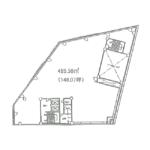 平和1 東別院3番出口ビル 平面図