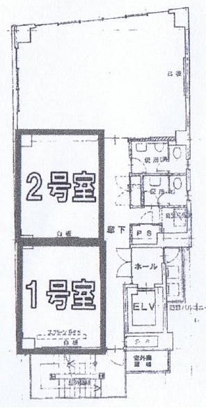 新栄3 セントラル千種ビル 平面図