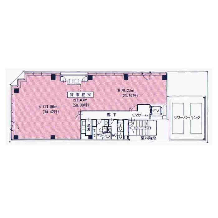 丸の内3 セプトン丸の内ビル 平面図