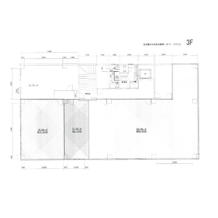 名駅南1 コアビル 平面図