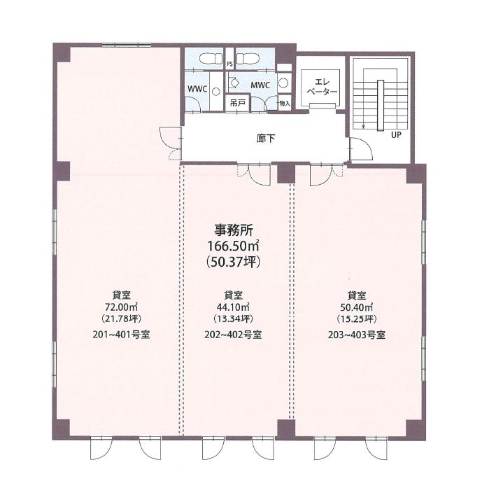 名駅3 スクエアオフィス名駅東 平面図