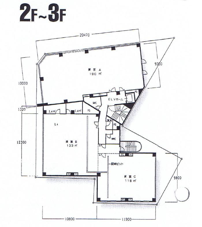 名駅2 東海ソフトビル 平面図