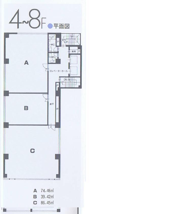名駅4 名ファーストビル 平面図