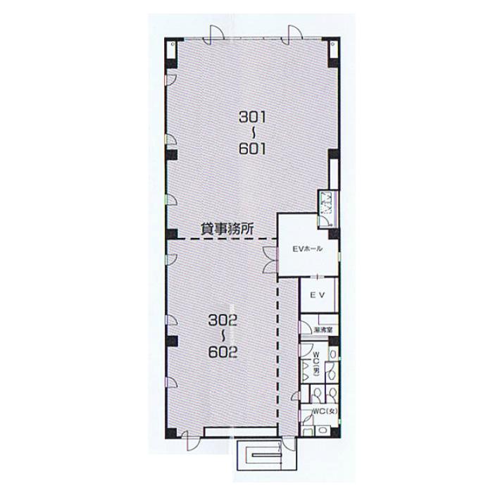 名駅南1 AEビル 平面図