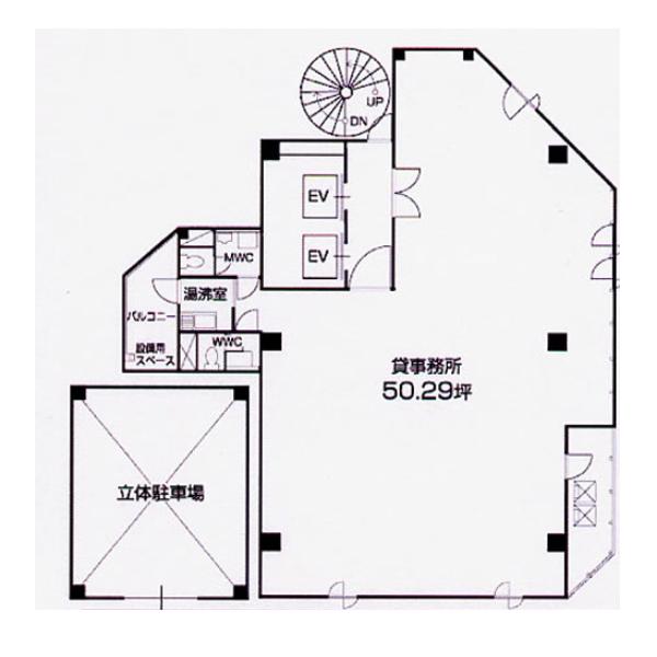 仲田2 NTビル 平面図