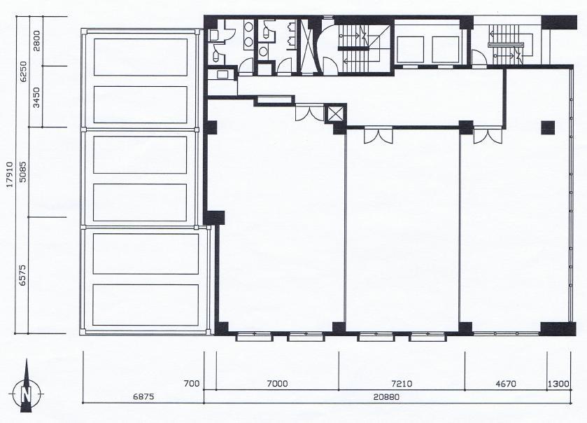 栄2 アーク栄広小路ビル 平面図