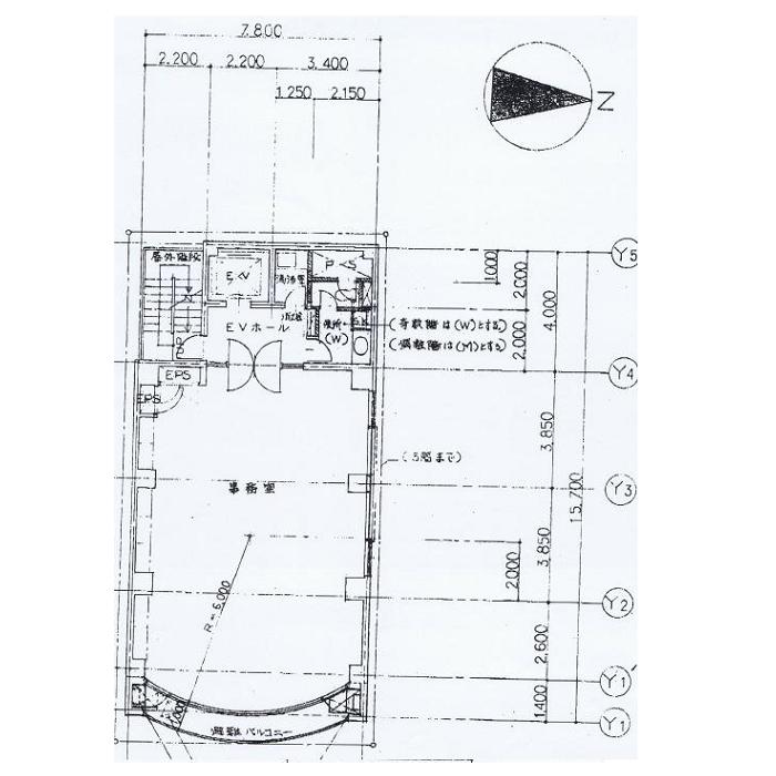 錦3 SUZU1 O2ビル 平面図