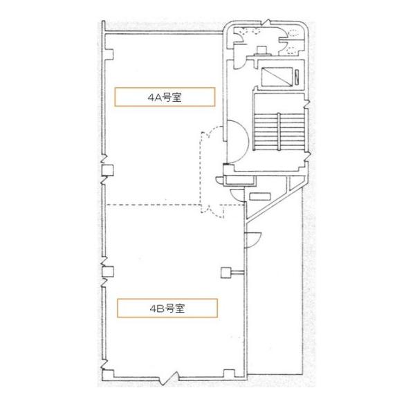 上社1 北村第三ビルディング 平面図