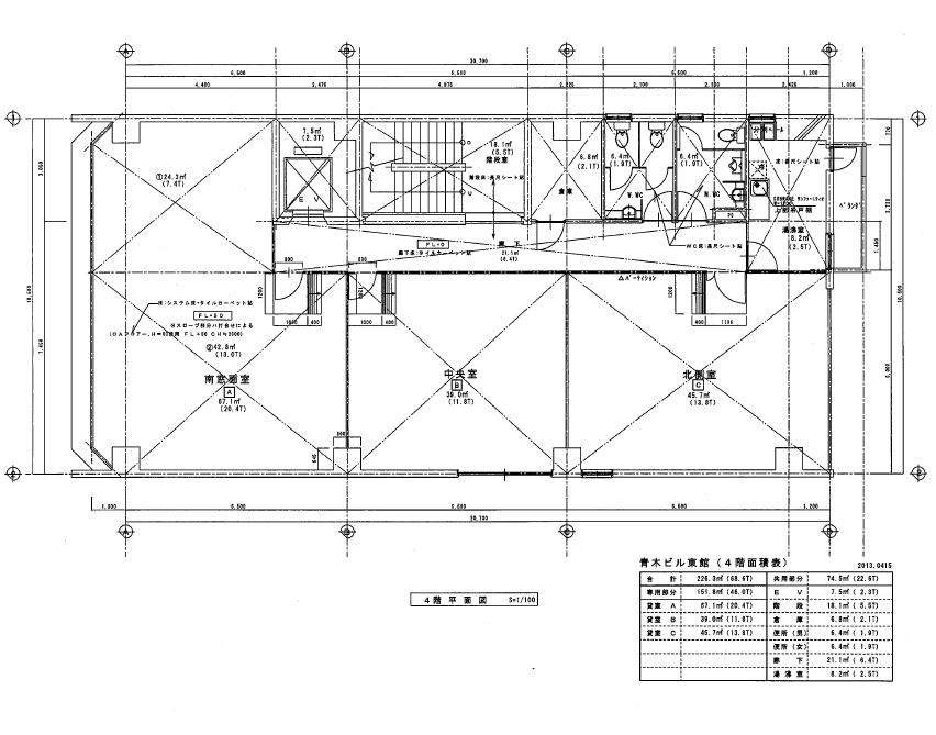 栄3 青木ビル東館 平面図