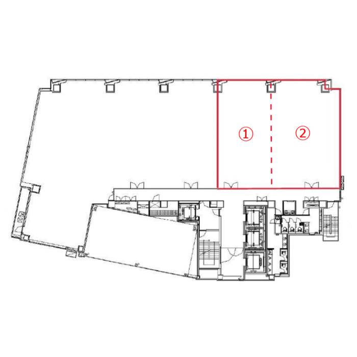 栄4 KDX名古屋栄ビル 平面図
