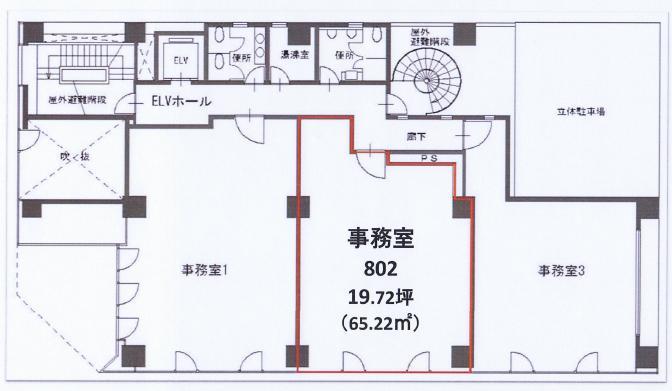錦1 いちご錦ビル 平面図