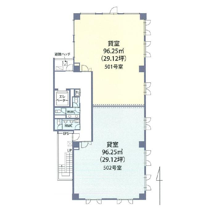 名駅3 エスカ名駅東ビル 平面図