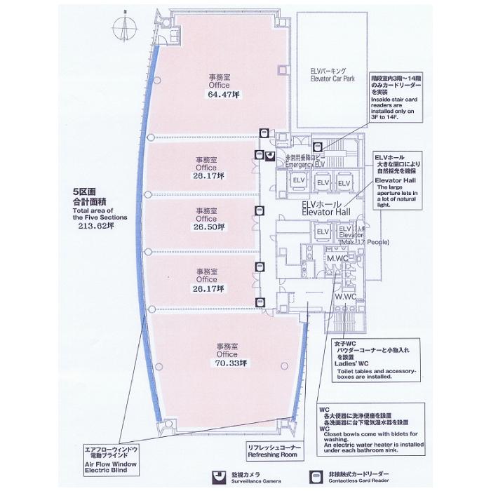 栄3 グラスシティ栄 平面図