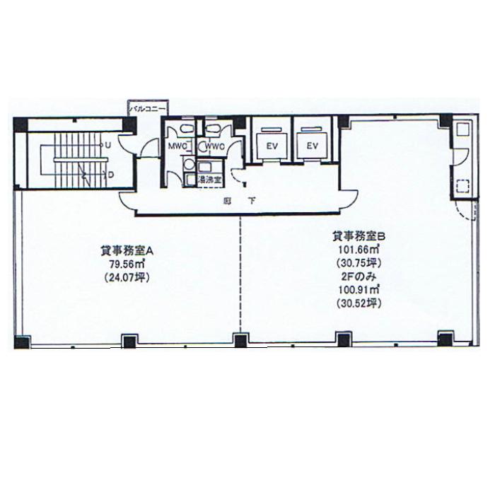 栄3 大河内ビル 平面図