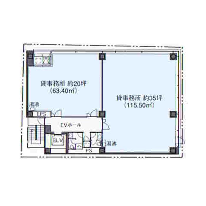 錦1 CK21広小路伏見ビル 平面図