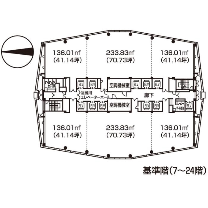 那古野1 名古屋国際センタービル 平面図