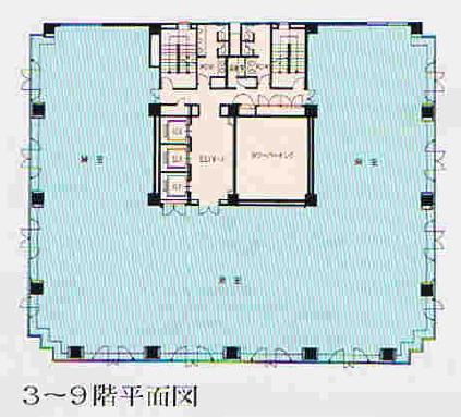 丸の内2 メットライフ名古屋丸の内ビル 平面図