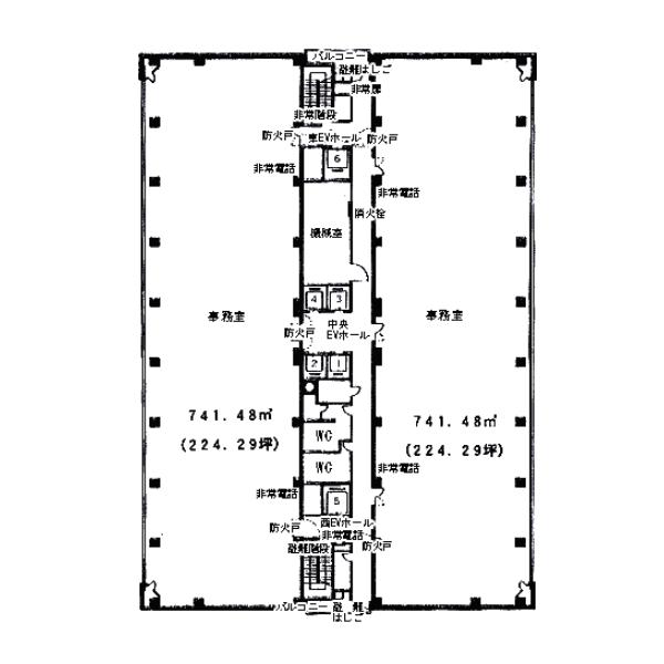 錦3 御幸ビル 平面図