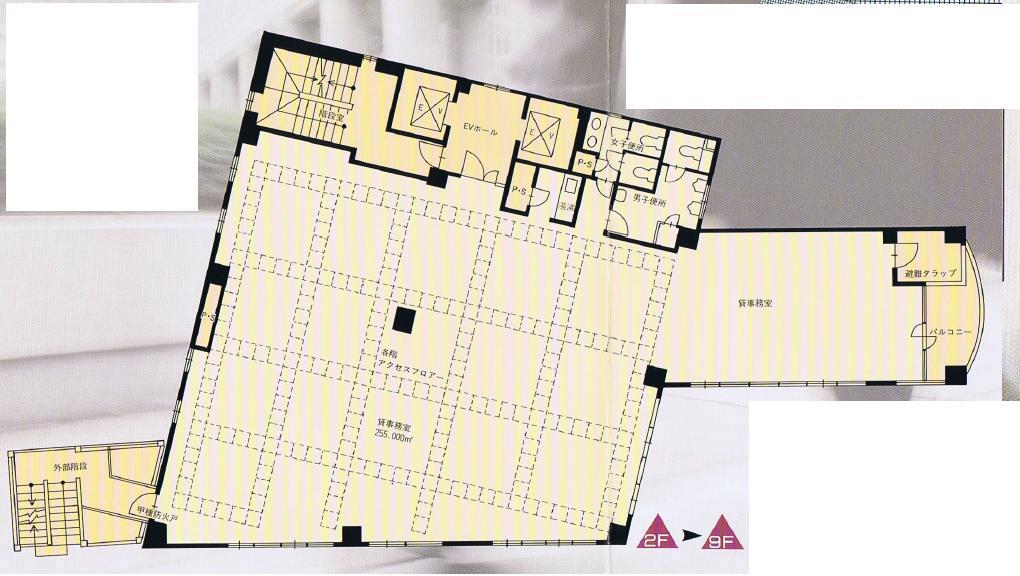 栄3 フォルテ栄ビル 平面図