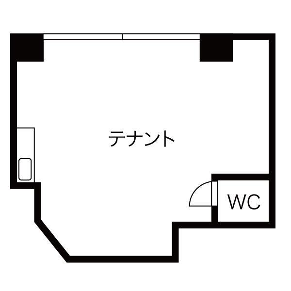 川名町4 オーライフ川名第一ビル 平面図