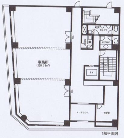 栄1 シモン10栄ビル 平面図