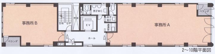錦3 セントラル錦ビル 平面図