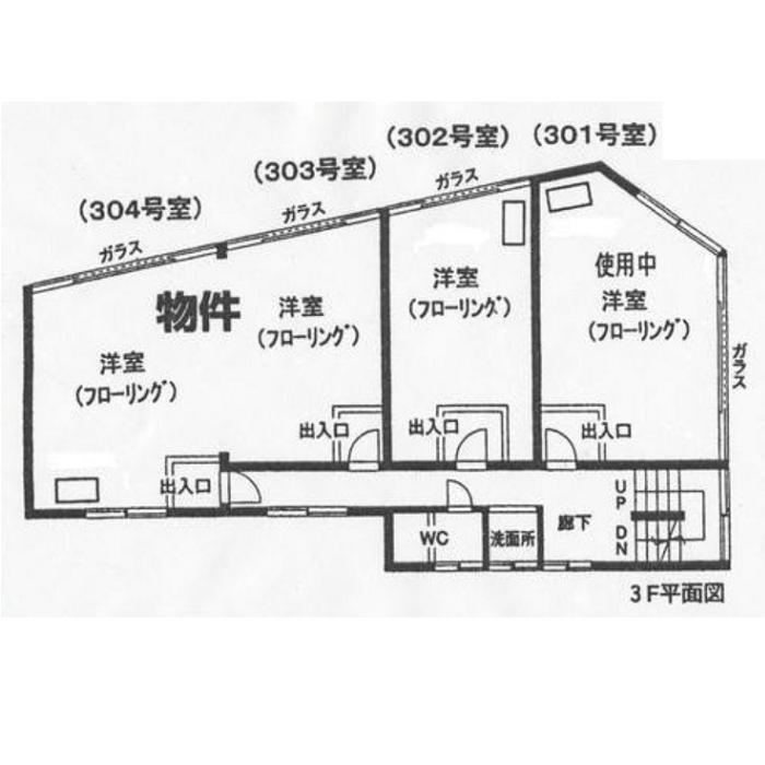 千代田2 第5華ビル 平面図