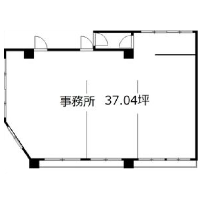 矢田5 矢田ビル 平面図