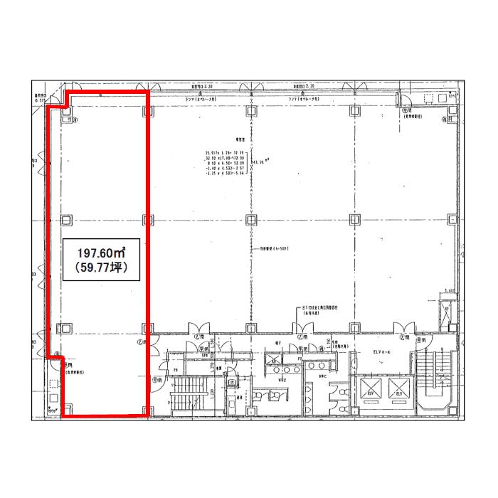 丸の内3 久屋パークサイドビル 平面図