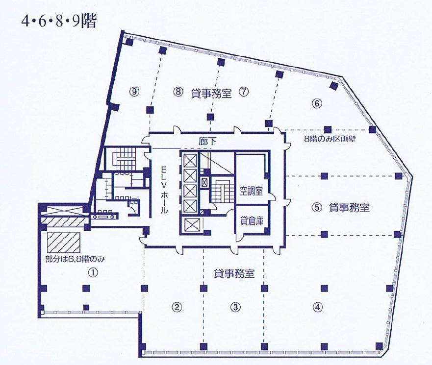 名駅南1 東海ビルディング 平面図