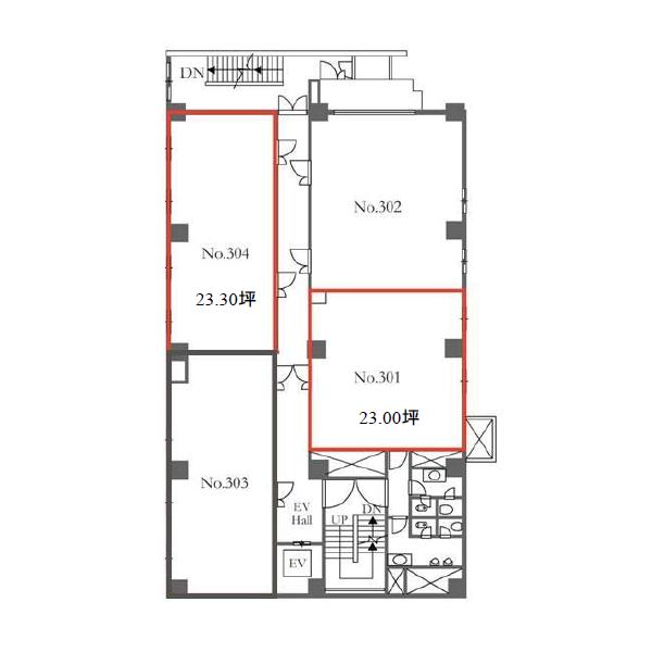 新栄2 雲竜フレックスビル東館 平面図