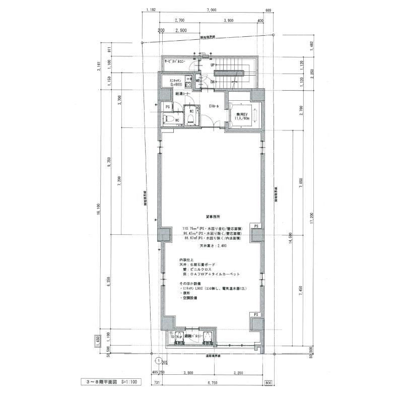 今池4 SBP今池ビル 平面図