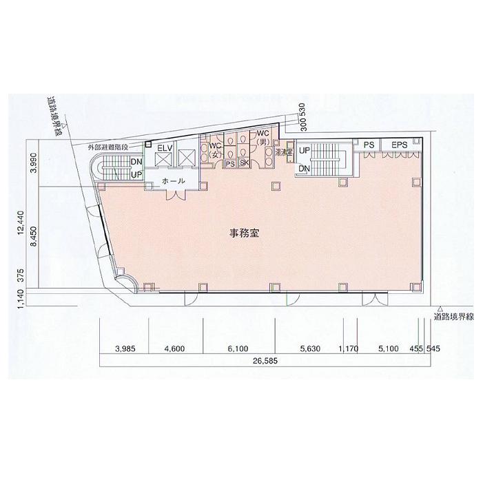 名駅3 LCビル 平面図