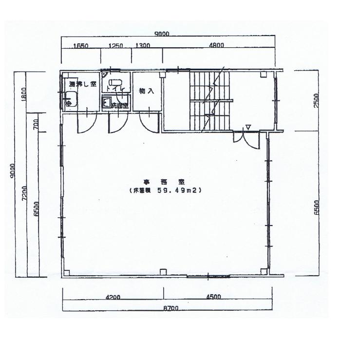 名駅5 第三上善ビル 平面図