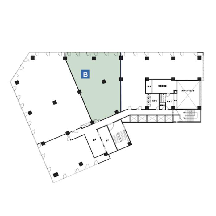 名駅2 桑山ビル 平面図