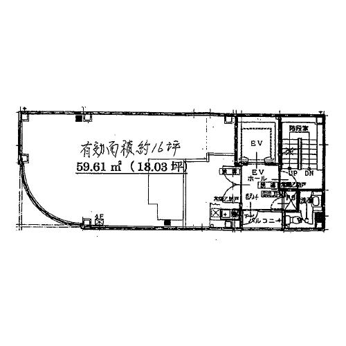 大須3 中部商事(株)本社ビル 平面図