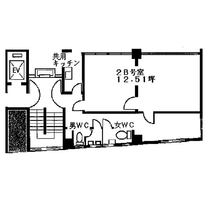 上前津2 福信ビル 平面図