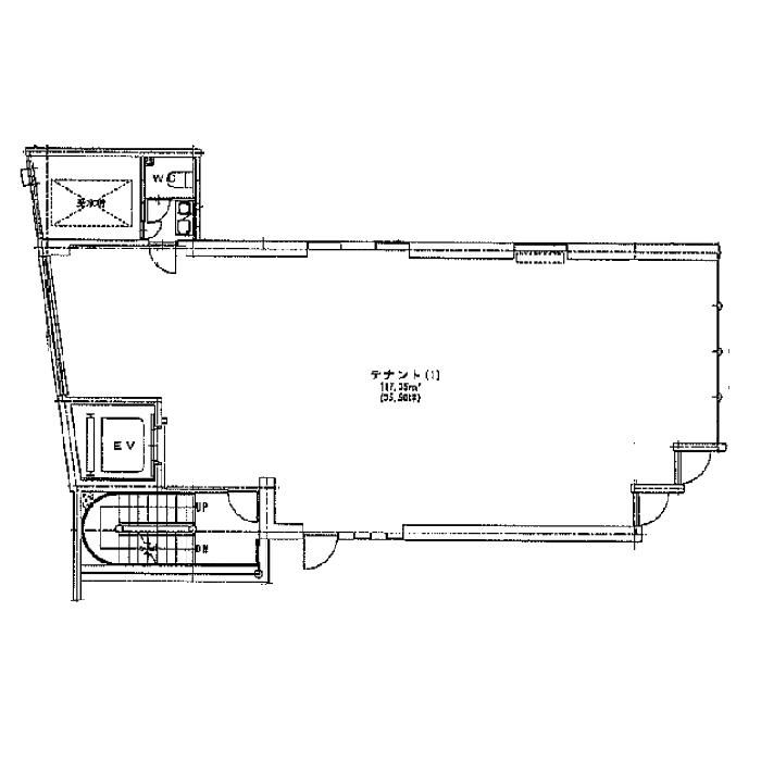 栄3 エフジー若宮ビル 平面図