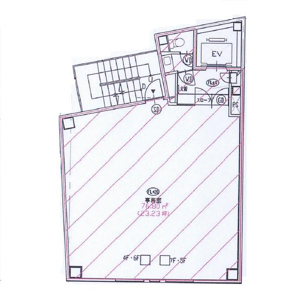 栄5 GS栄Ⅱビル 平面図