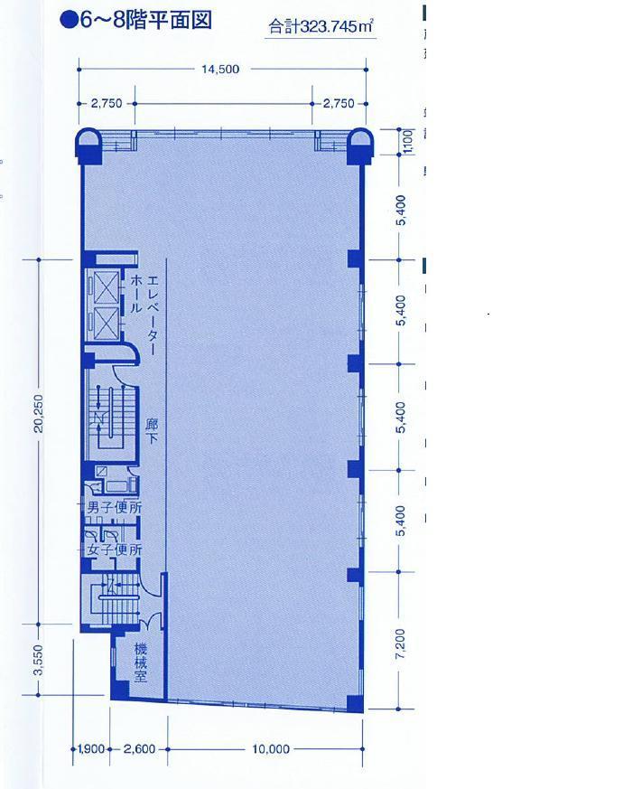 名駅4 名駅ビル 平面図