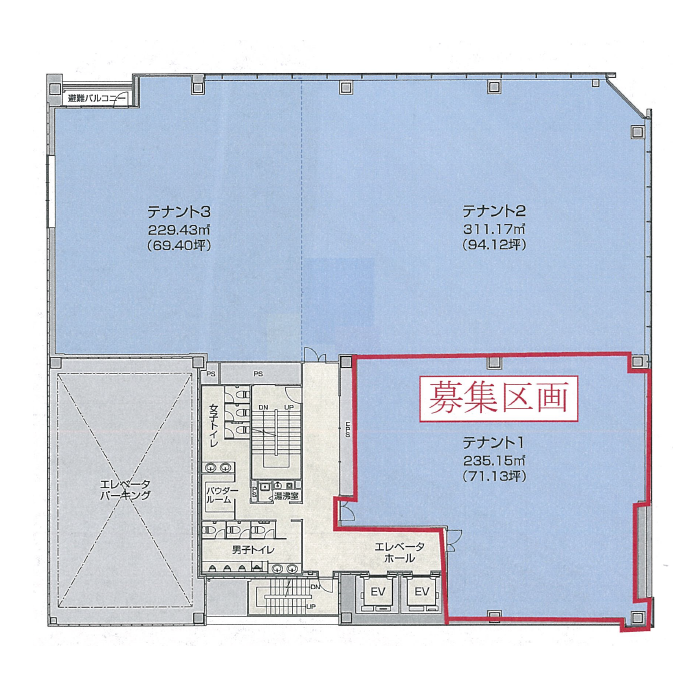 錦2 パシフィックスクエア名古屋錦 平面図