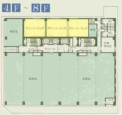 錦3 錦中央ビル 平面図