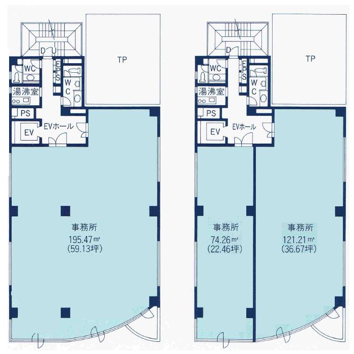 丸の内2 アクセス丸の内ビル 平面図