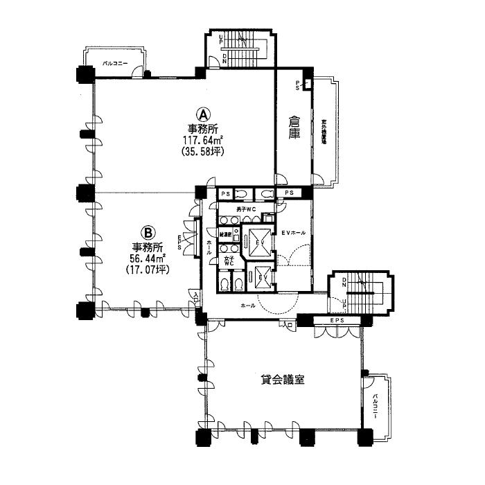 葵1 プロト葵ビル 平面図